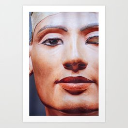 The Face of Nefertiti Art Print