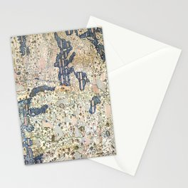 1458 World Map by Fra Mauro Stationery Cards