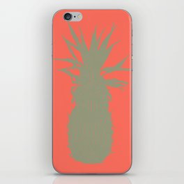 Coral Pineapple iPhone Skin