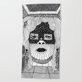 Salvador Dalí - Mae West Beach Towel