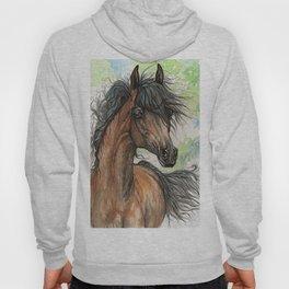 Bay arabian horse Hoody