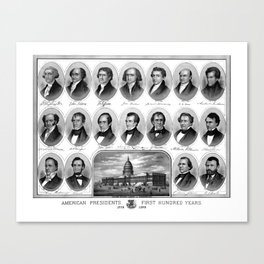 American Presidents - First Hundred Years Canvas Print