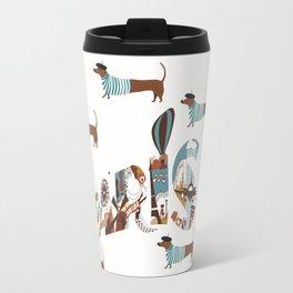 dogs live in paris  Travel Mug