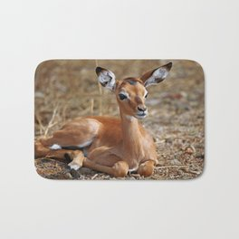 Very young Impala, Africa wildlife Bath Mat