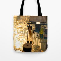 technology Tote Bags featuring Sunset Technology by Encore Designs