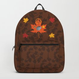 Grey Squirrel Autumn Pattern Backpack