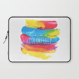Live Colorfully Laptop Sleeve
