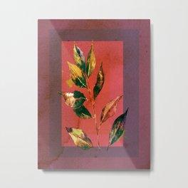 leaf motive Metal Print