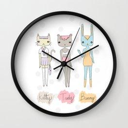 Pet dolls Wall Clock