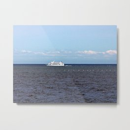 Yatch and Birds Racing Metal Print