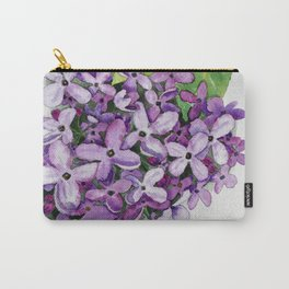 Watercolour Lilac Bloom Carry-All Pouch