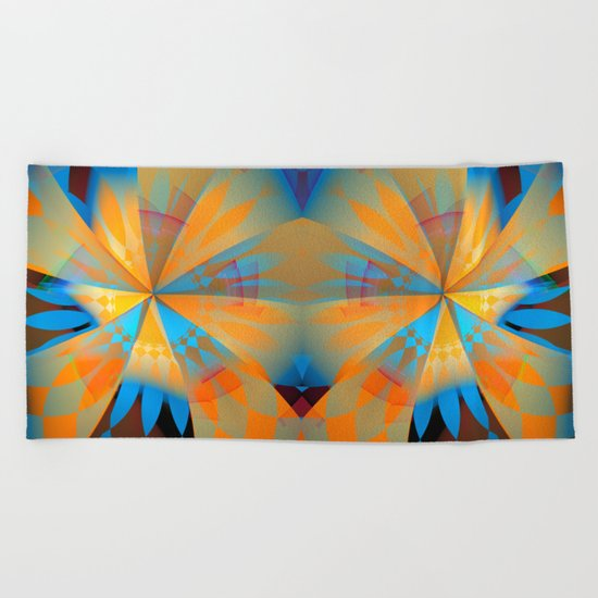 Thinking of a blue sky and the summer sun Beach Towel