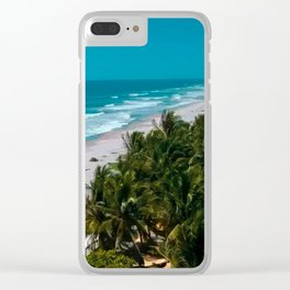 Waves and Palms Clear iPhone Case