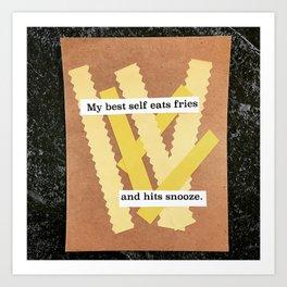 Soul fries Art Print