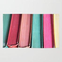 Colorful Vintage Book Spines Rug