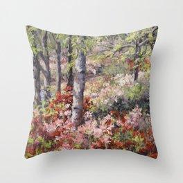 Stars of Spring — Azaleas Throw Pillow