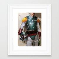 boba fett Framed Art Prints featuring Boba Fett by Yvan Quinet
