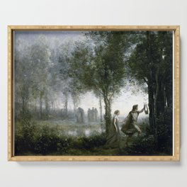 Jean-Baptiste-Camille Corot Orpheus Leading Eurydice from the Underworld Serving Tray