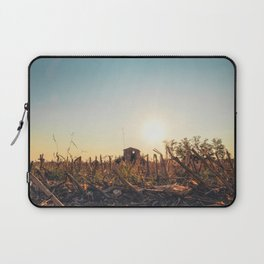 Corn field at sunset in the countryside of Lomellina Laptop Sleeve