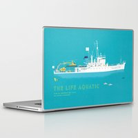 life aquatic Laptop & iPad Skins featuring The Life Aquatic with Steve Zissou by steeeeee