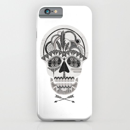 AZTEC SKULL B/W  iPhone & iPod Case