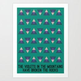 The Violets Art Print