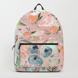 Abstract painting of flowers and plants Backpack