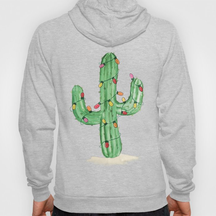 Cactus with Holiday lights Hoody