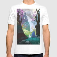 TOTORO White SMALL Mens Fitted Tee