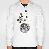 the moon Hoodies featuring Moon by J Arell