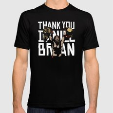 Thank you Bryan Black Mens Fitted Tee MEDIUM