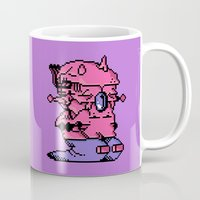 video game Mugs featuring Double Slug - Video Game Project by Studio Momo╰༼ ಠ益ಠ ༽