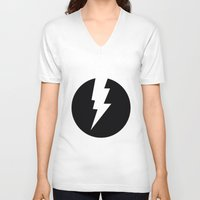 the flash V-neck T-shirts featuring Flash by Mr and Mrs Quirynen
