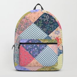 Bohemian patchwork quilt large scale  Backpack