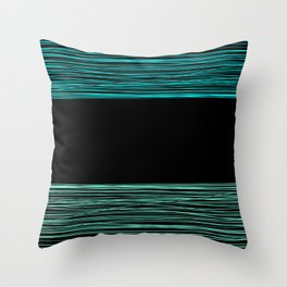 Thread , black and green Throw Pillow