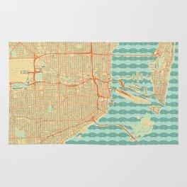 Miami Map Retro Rug