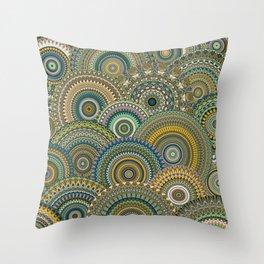 Mandala Mania-Mineral colors Throw Pillow