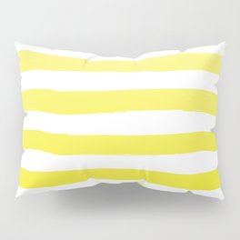 Sun Yellow Handdrawn horizontal Beach Stripes - Mix and Match with Simplicity of Life Pillow Sham