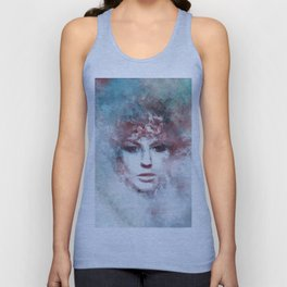 Girl face painting ART Unisex Tank Top