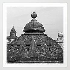 Glasgow domes Art Print