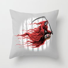 red reaper Throw Pillow