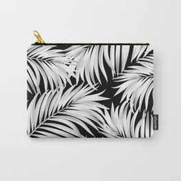 Palm Tree Fronds White on Black Hawaii Tropical Décor Carry-All Pouch