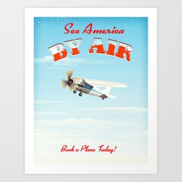 See America! by air - Book a plane today. Art Print