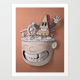Pie Brains Art Print