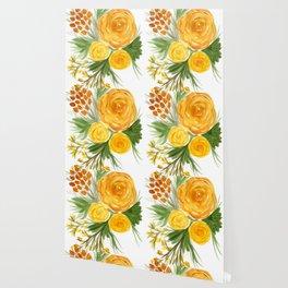 Harvest Floral Bouquet Wallpaper