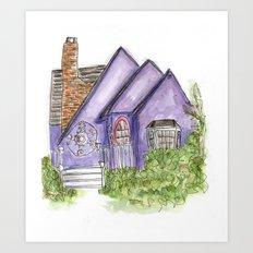 Purple House Art Print