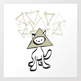 minima - pyramid cat Art Print