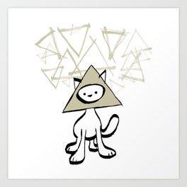 minima - pyramid cat Art Print