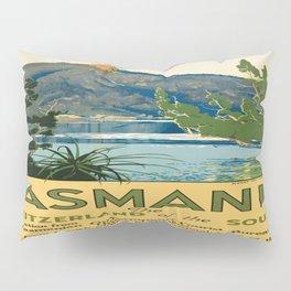 Vintage poster - Tasmania Pillow Sham