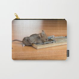 Dead Mouse in Trap Carry-All Pouch
